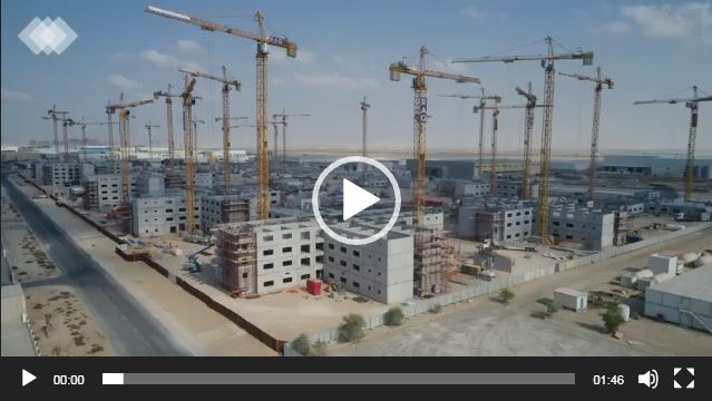 Drone View of Jafza-Dubai/Jabal Ali Construction